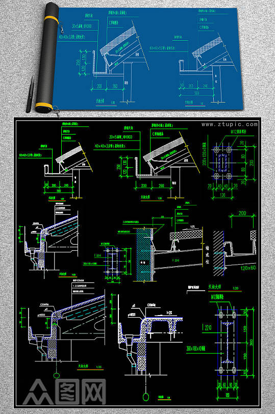 最全钢结构CAD图块-众图网