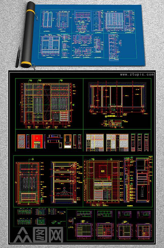原创2019多种规格柜体CAD图库-众图网