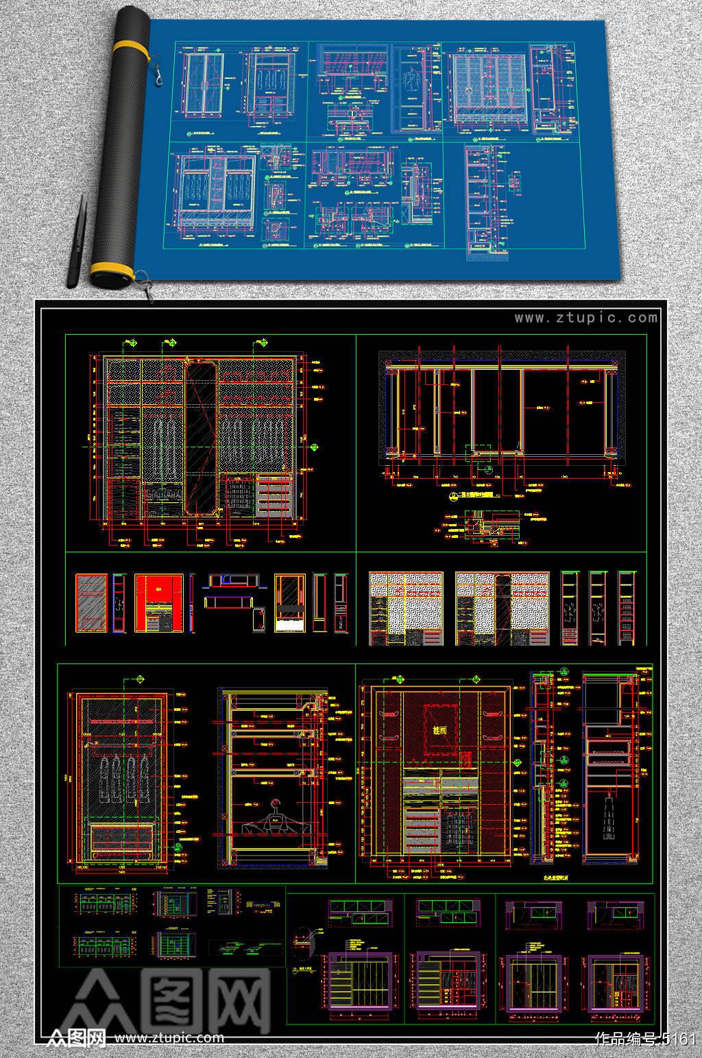 原创2019多种规格柜体CAD图库素材