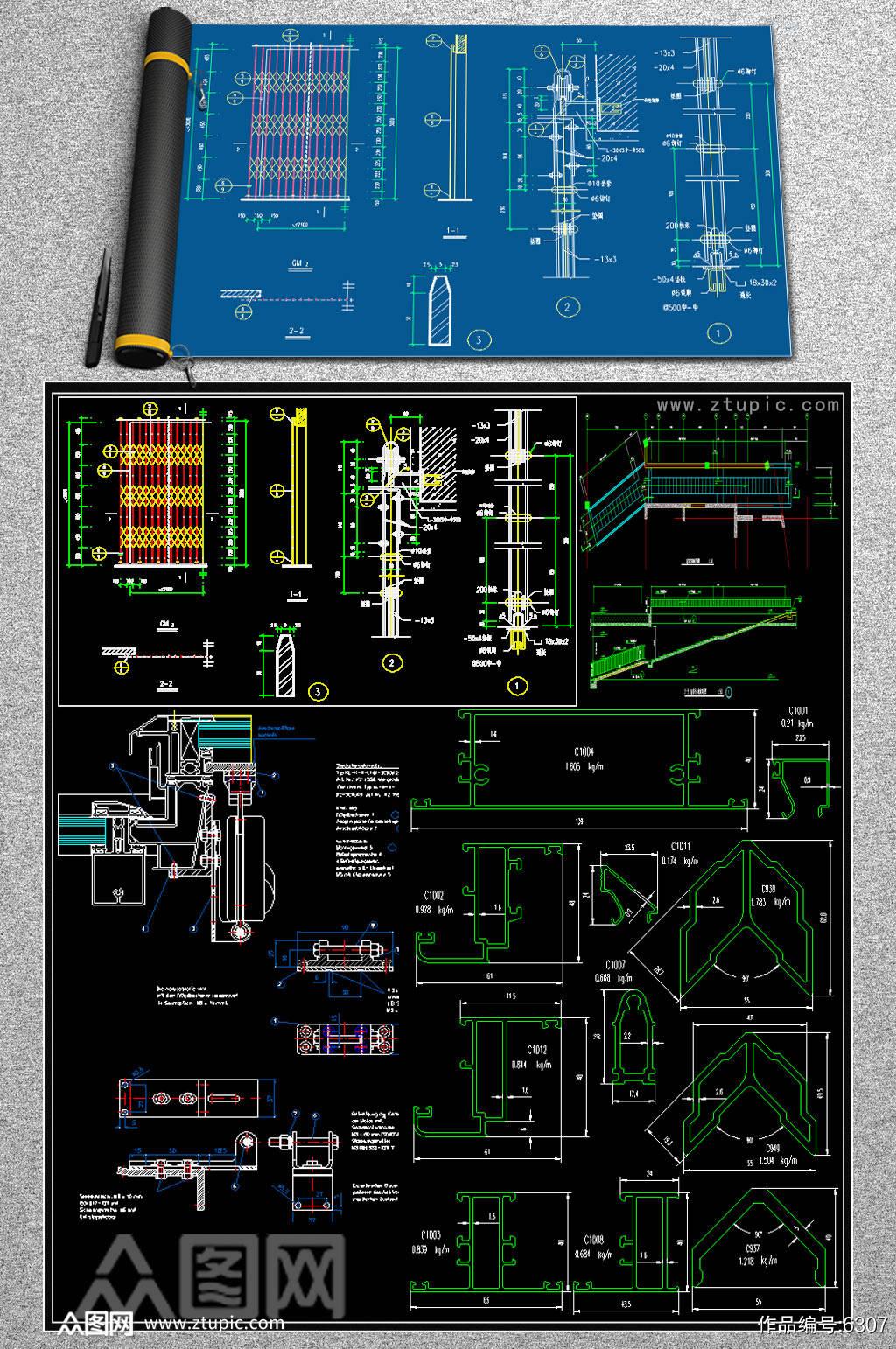 原创家装CAD图库素材