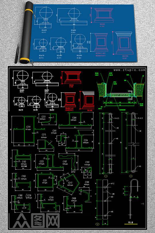 原创家装CAD图块-众图网
