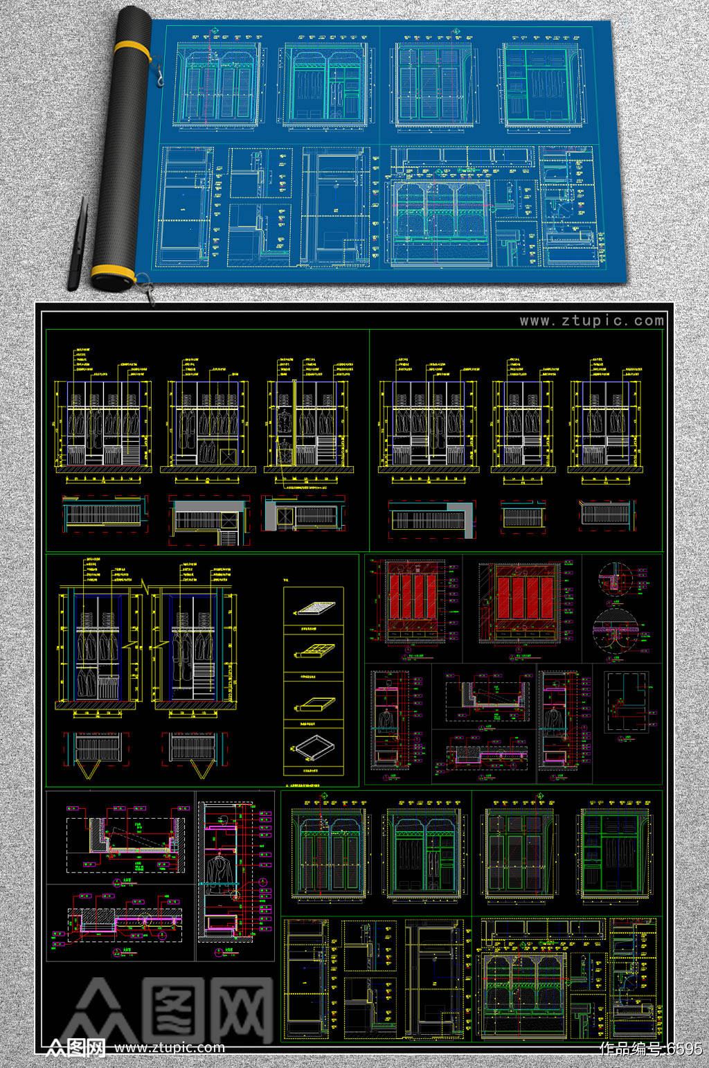 全套标准衣柜CAD模版素材