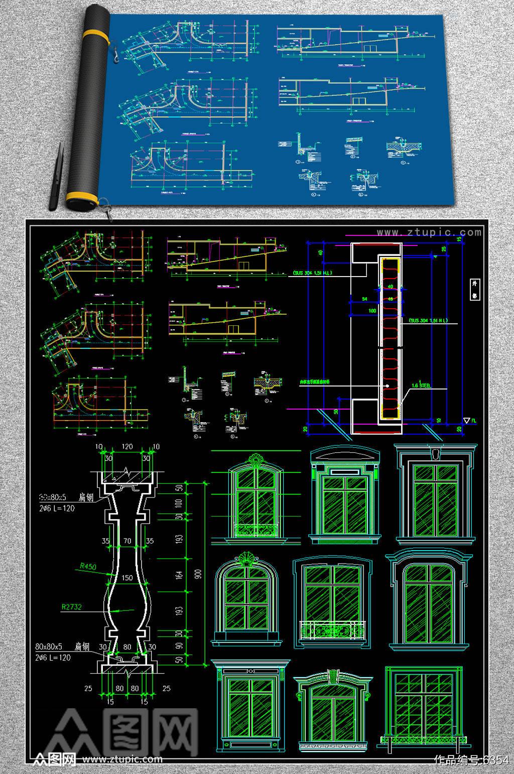 原创家装CAD大样素材
