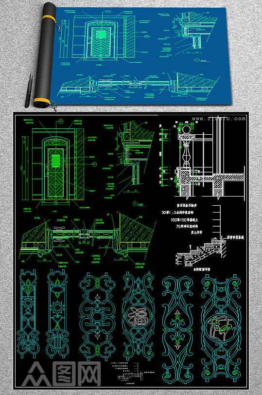 原创栏杆CAD大样-众图网