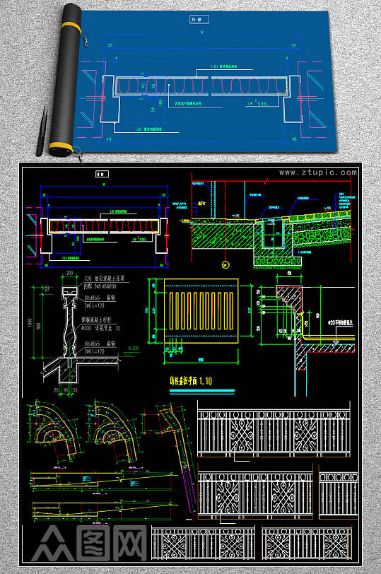 原创家装CAD大样-众图网