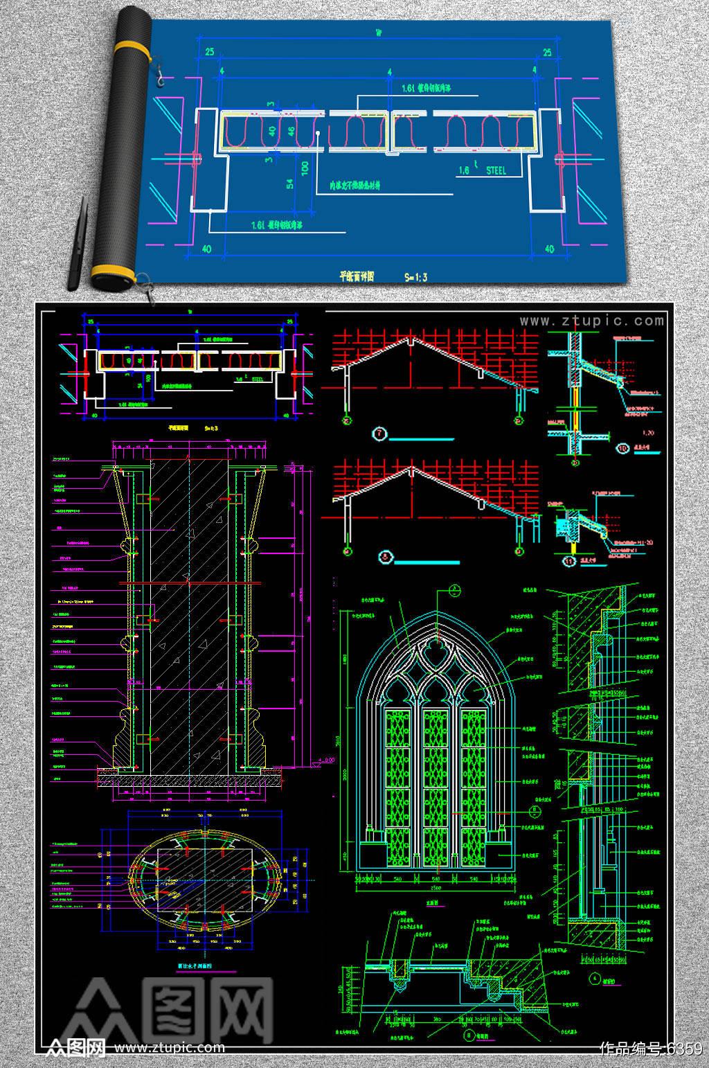 最新家装时尚现代整套家装CAD施工图图片下载CAD现代简约风格施工图图片下载CAD 现代简约风格施工素材