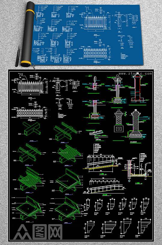 原创线板CAD素材-众图网