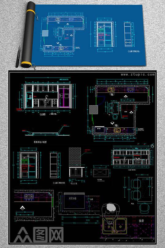2019整体橱柜CAD模块-众图网