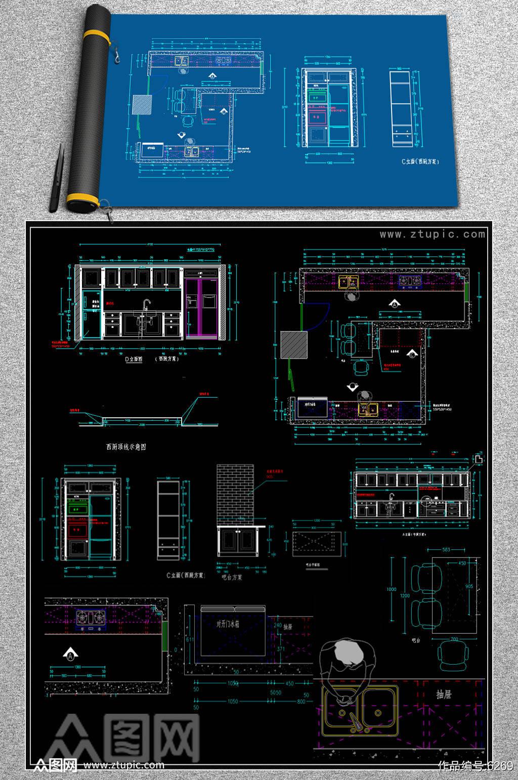 2019整体橱柜CAD模块素材