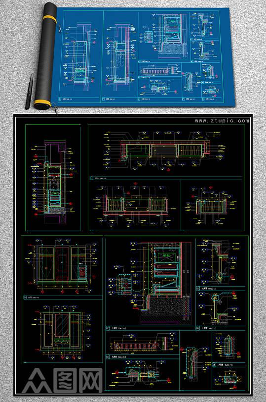 原创衣柜保险柜CAD素材-众图网