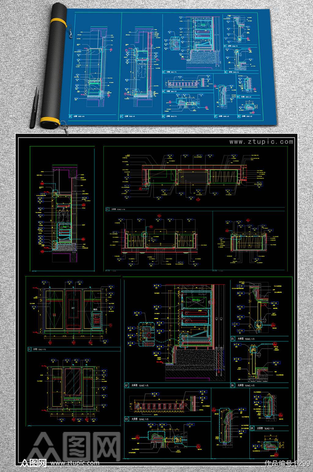 原创衣柜保险柜CAD素材素材