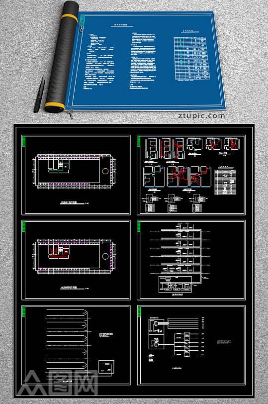 综合酒店电气cad图纸-众图网