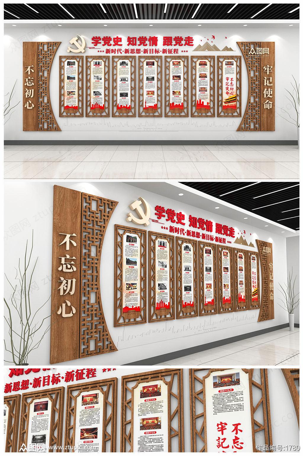 党的光辉历程党的一大到十九大会议文化墙素材
