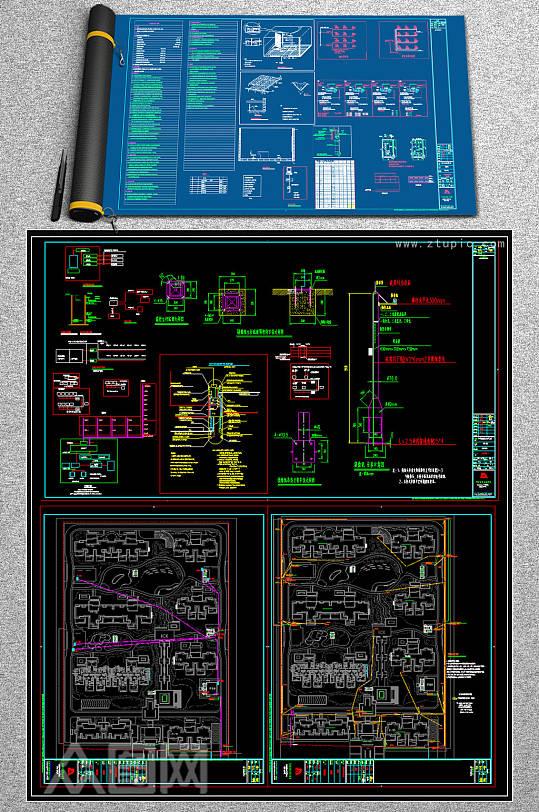 小区弱电智能化项目全套CAD图纸-众图网