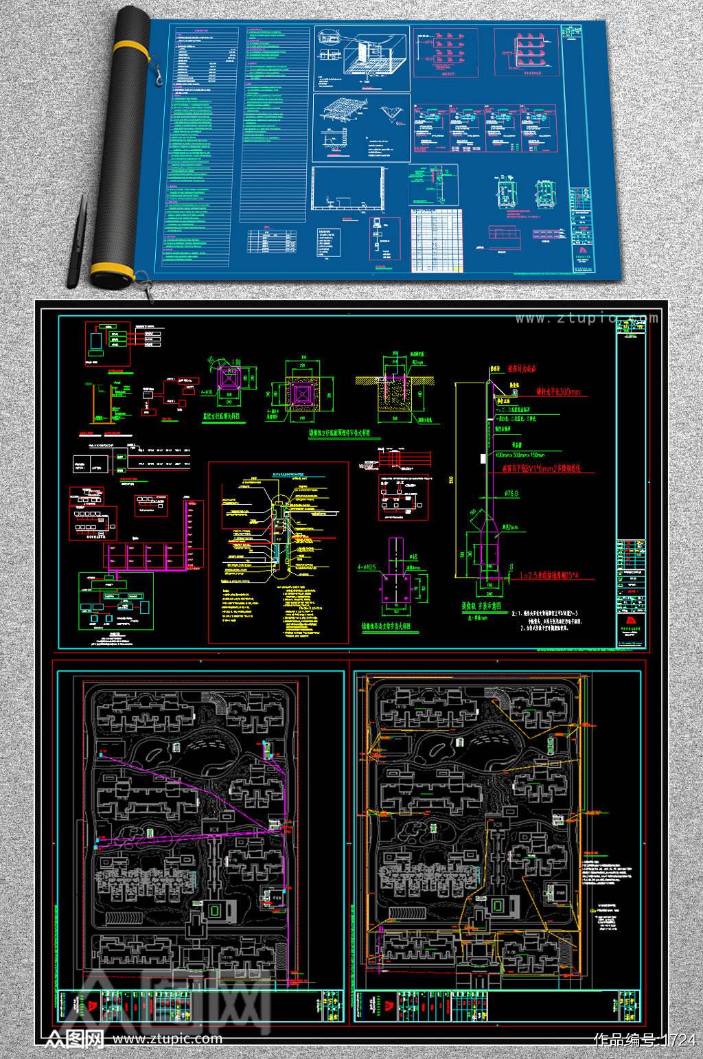 小区弱电智能化项目全套CAD图纸素材