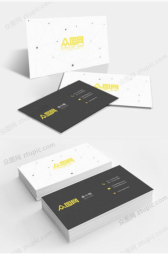 原创简约商务个人企业公司名片企业二维码卡片-众图网