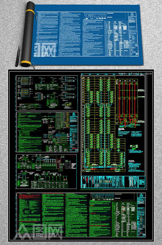 高层住宅楼全套电气CAD施工图-众图网