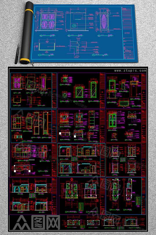 2019客房CAD平面图-众图网