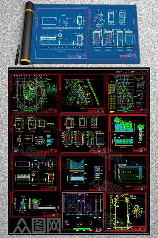 整木花园CAD详图-众图网