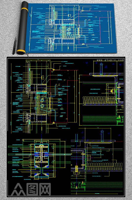 2019.幕墙节点CAD素材-众图网