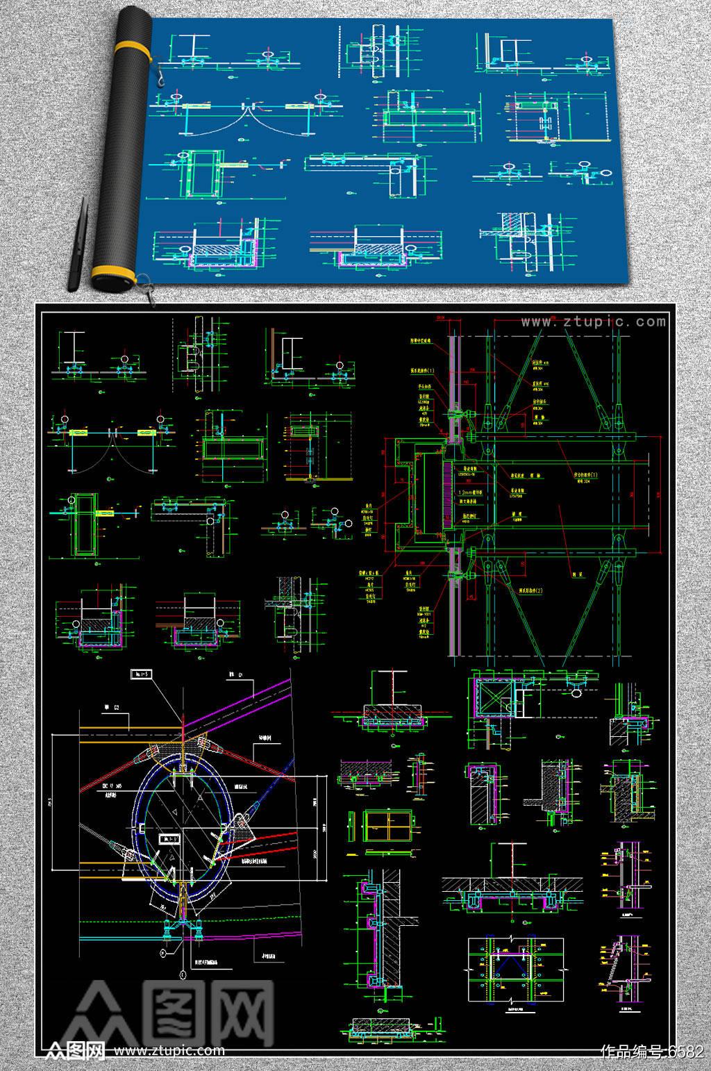 2019幕墙节点CAD图纸.素材