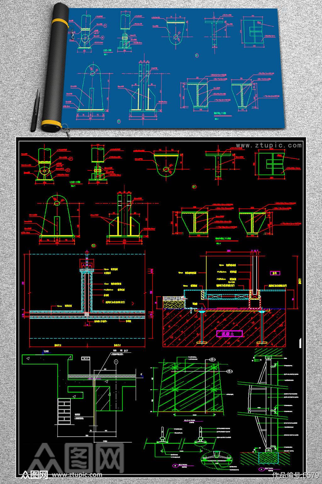 最全幕墙节点CAD图纸素材