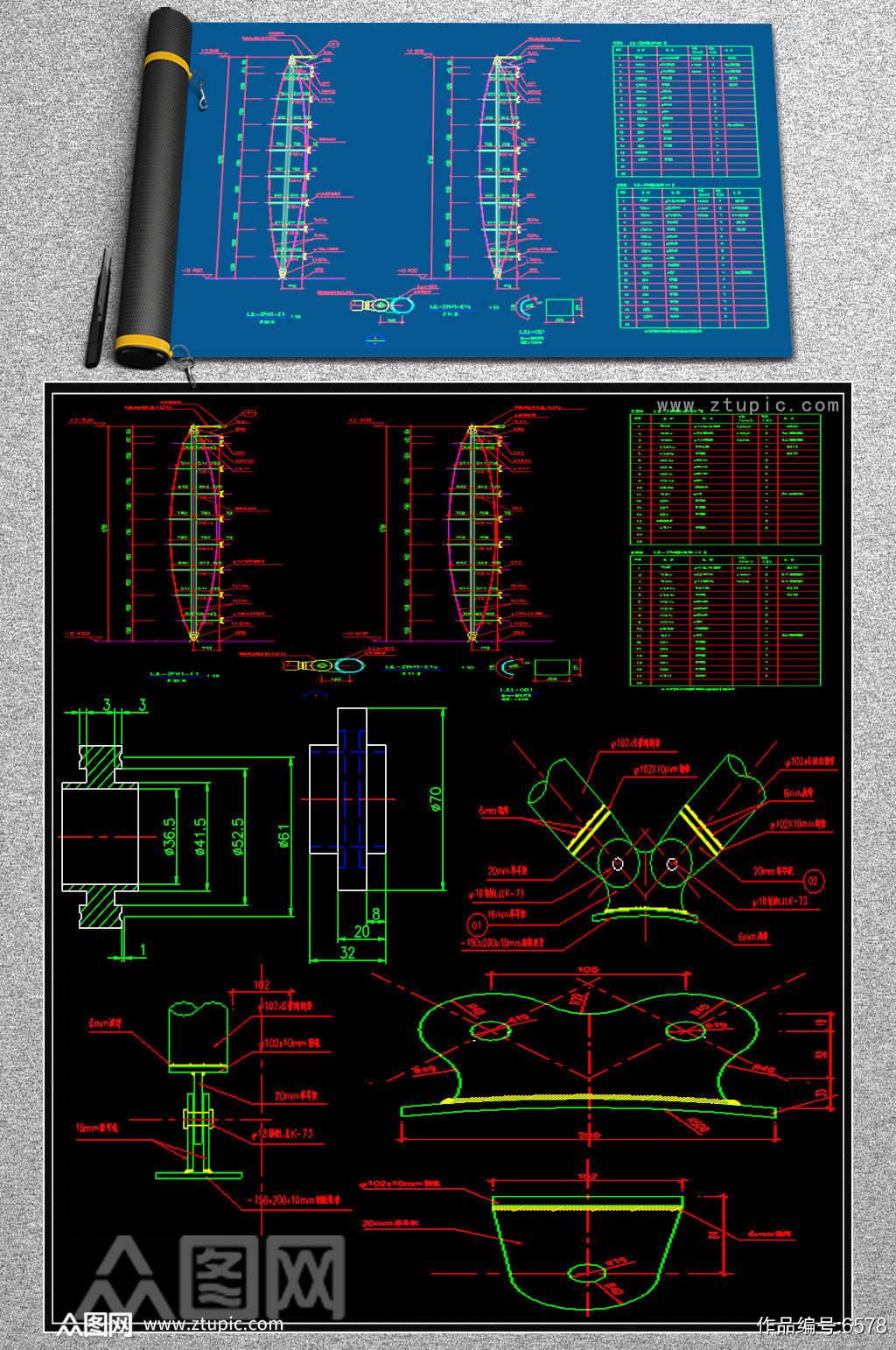 最全幕墙节点CAD图纸.素材