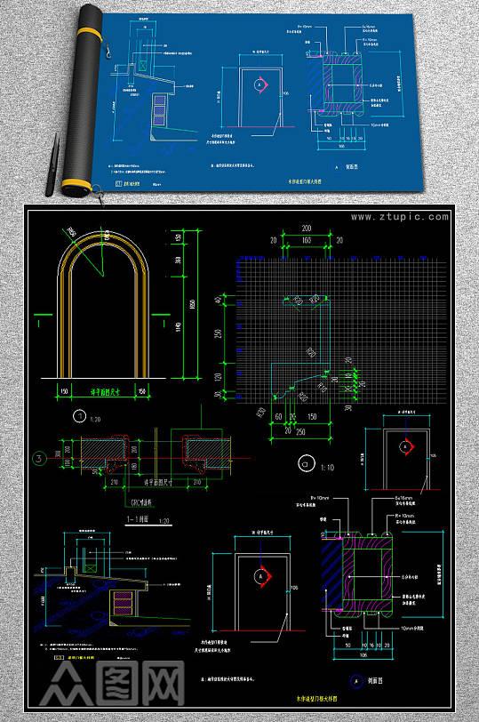精品整木门CAD模块-众图网