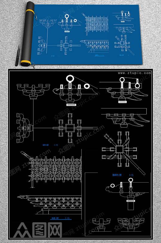 原创斗拱CAD素材-众图网