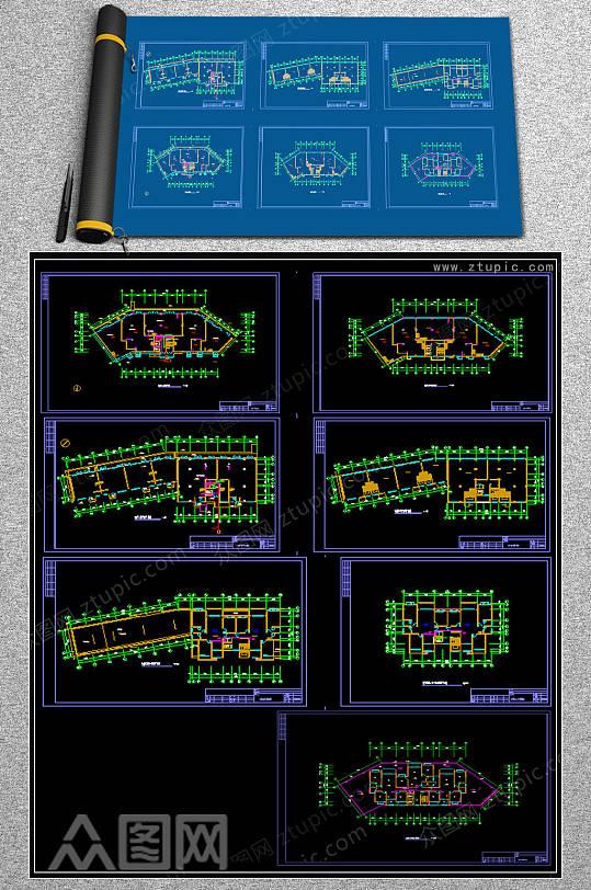 2019对讲系统CAD平面图-众图网