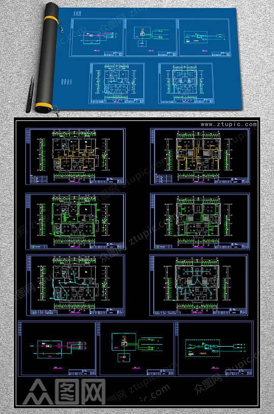 2019幼儿园智能CAD设计图-众图网