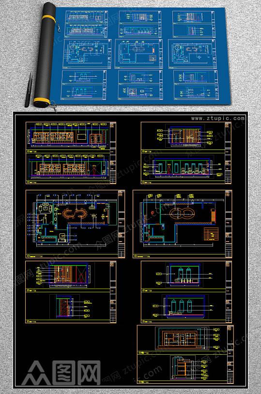 全套陶瓷CAD施工图-众图网