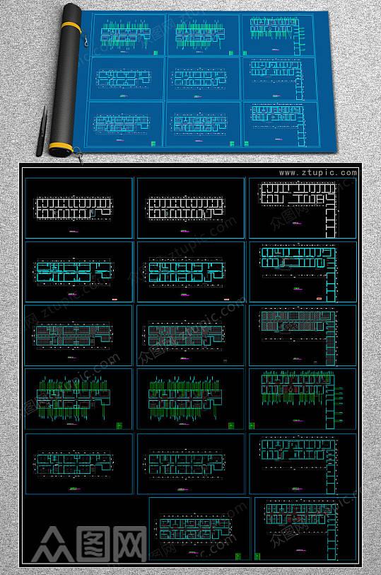 最新KTV平面CAD设计图-众图网