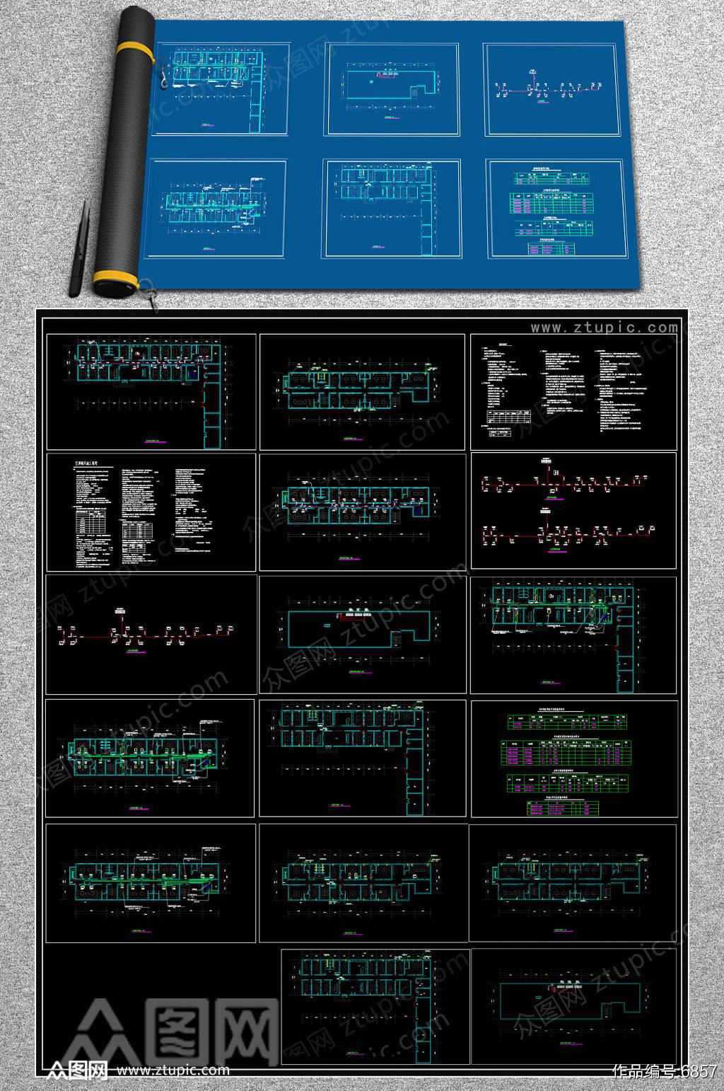 全套KTV暖通CAD示例图素材