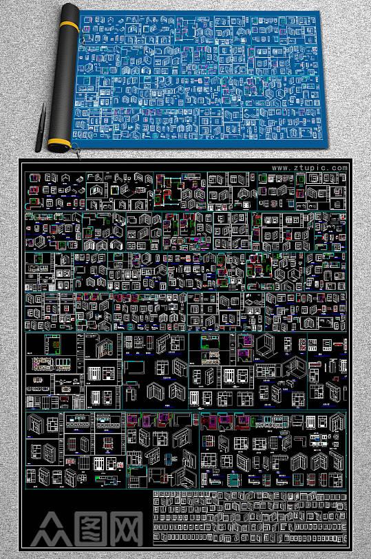 2019衣柜CAD大全-众图网
