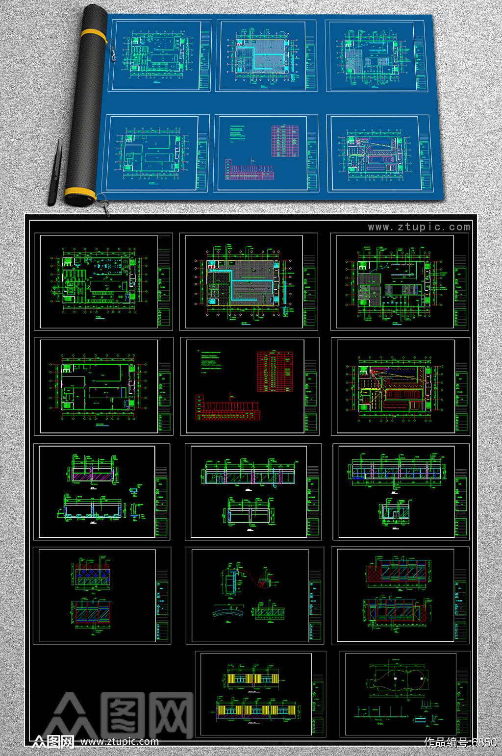 高档健身中心CAD平面图素材