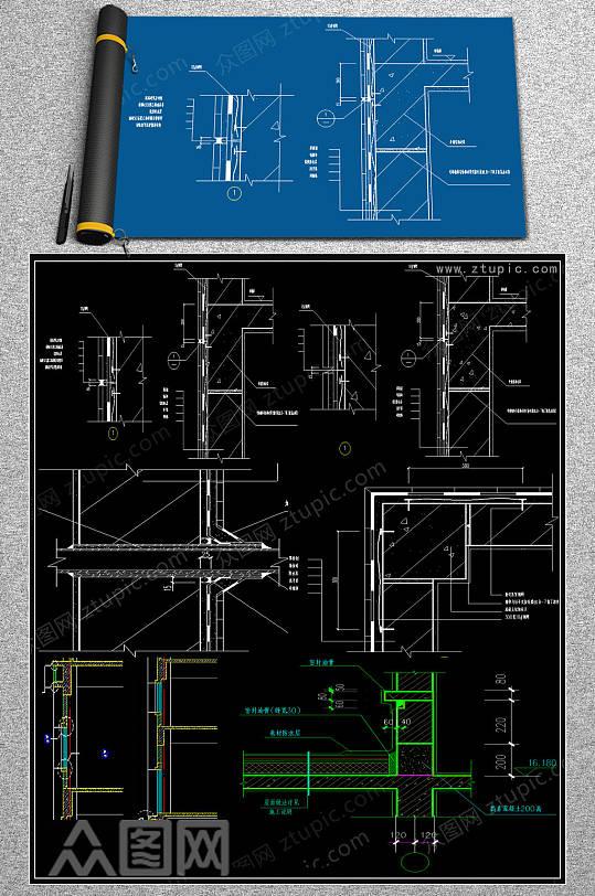 2019墙体结构CAD素材-众图网