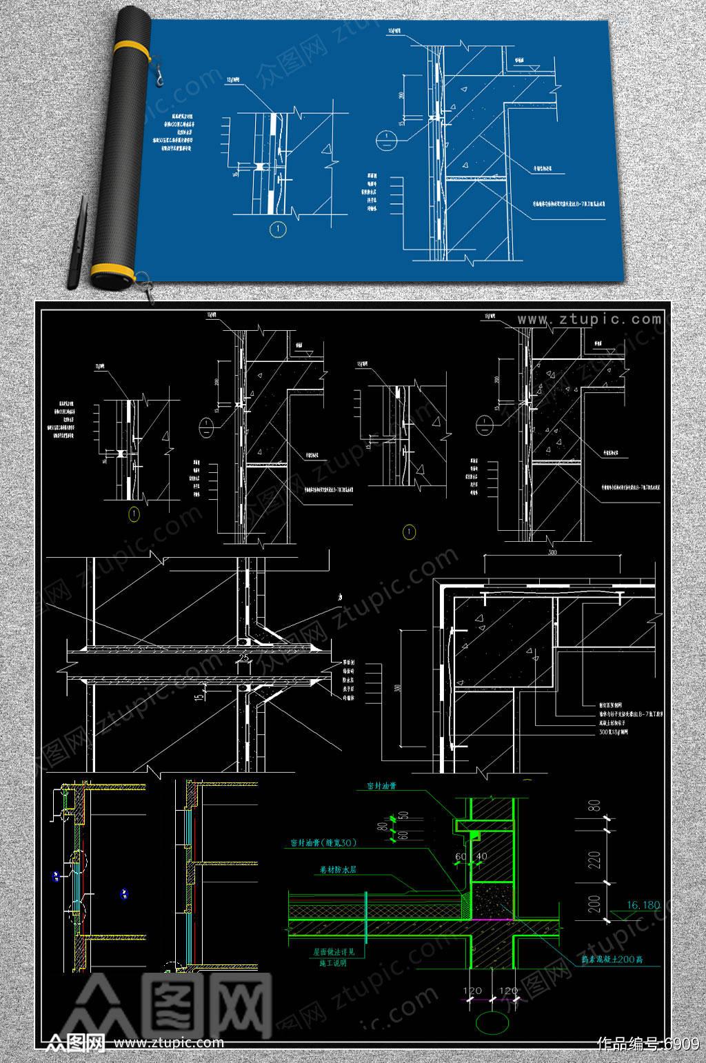 2019墙体结构CAD素材素材