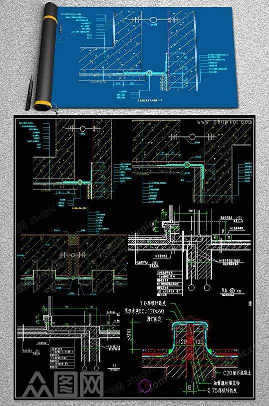 CAD变形缝装置规范图集-众图网