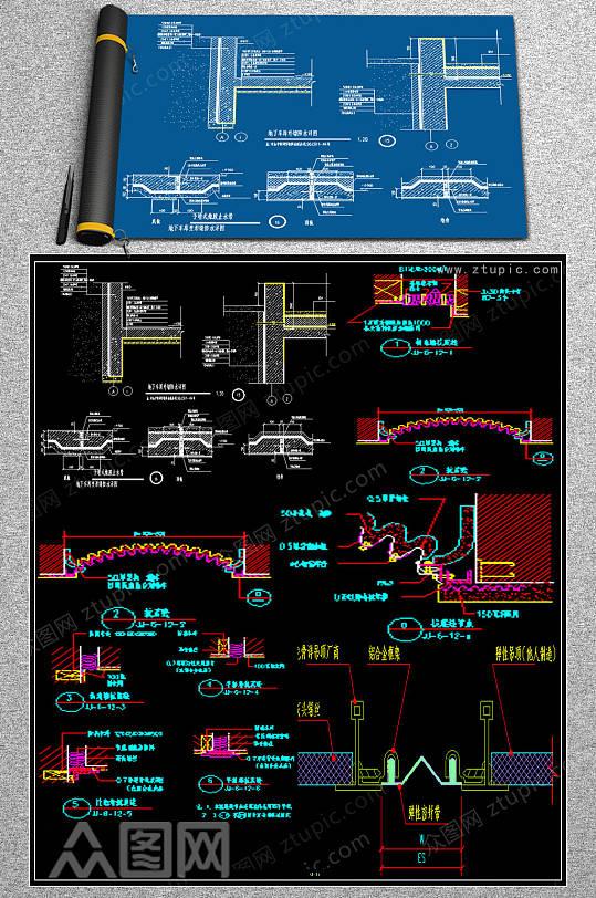 原创CAD变形缝装置规范图-众图网