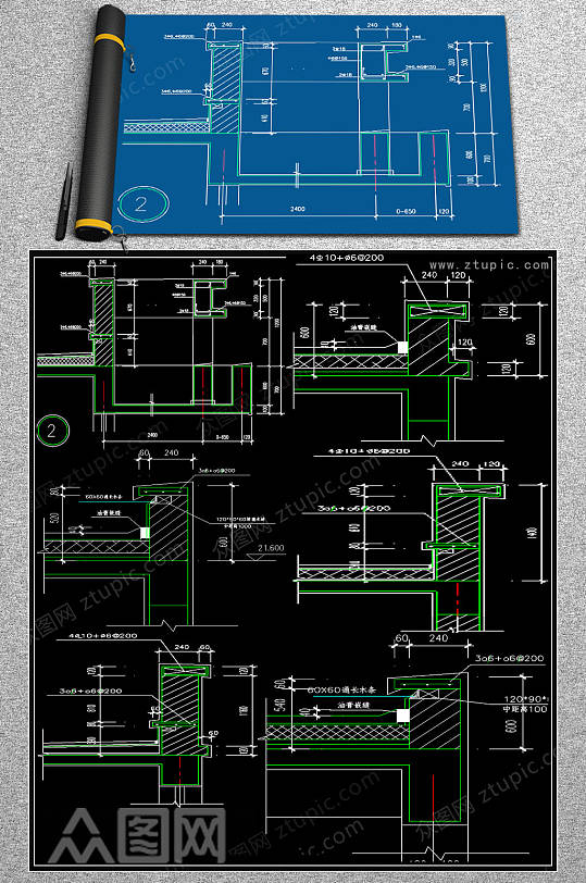 地面变形缝CAD图集-众图网
