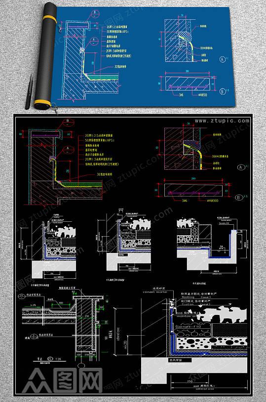 2019地面变形缝CAD图集-众图网