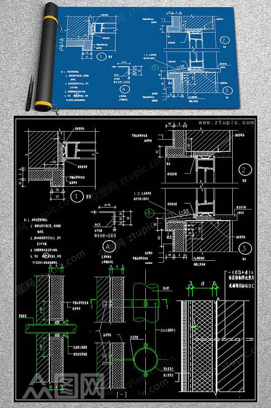 最全保温墙体节点CAD图库-众图网