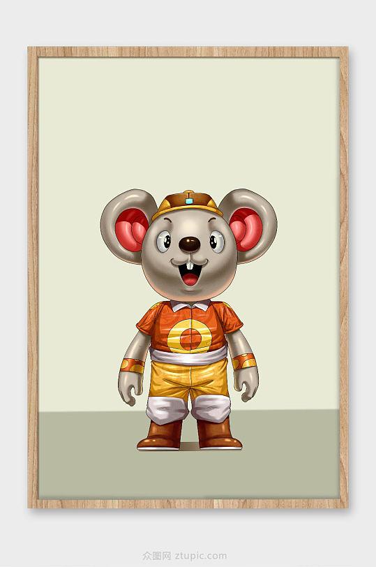 鼠年新年插画-众图网