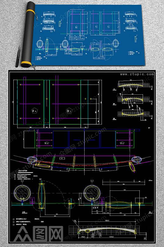 定制大厅门CAD施工图-众图网