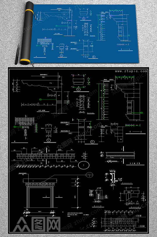 最全门CAD大样图-众图网
