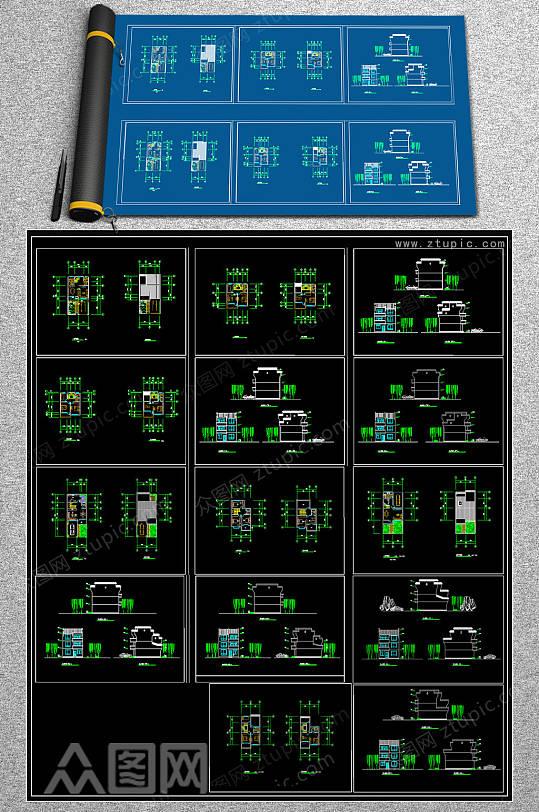 2019别墅CAD设计图-众图网