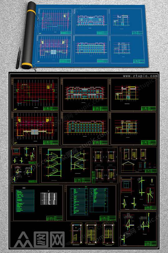 微派宾馆CAD施工图-众图网