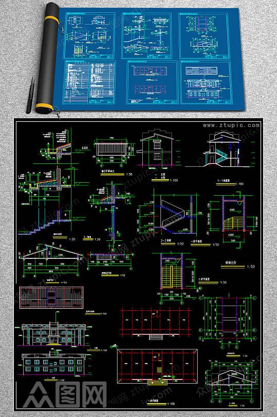 最新办公楼CAD模版-众图网