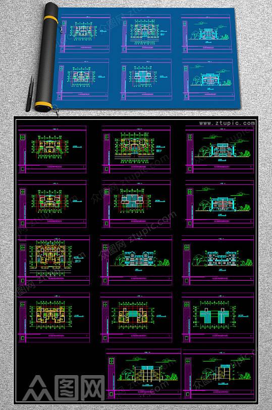 整套住宅CAD设计图-众图网